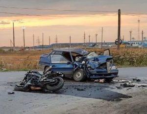 В Омской области погиб 46-летний байкер