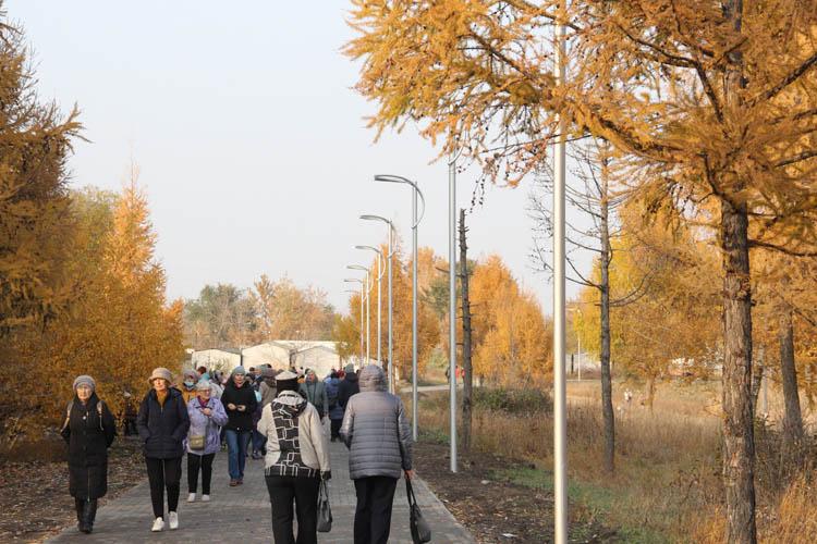 Омичи оценили возможности нового парка (ФОТОРЕПОРТАЖ)